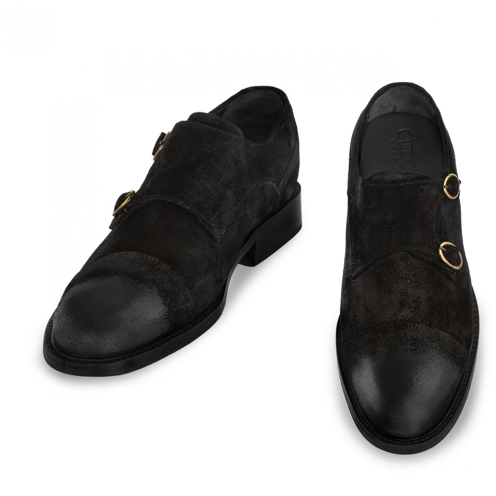 Elevator double buckle shoes